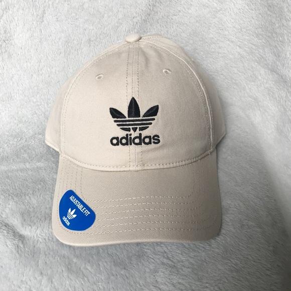 6b3173355e776 Khaki adidas trefoil dad hat